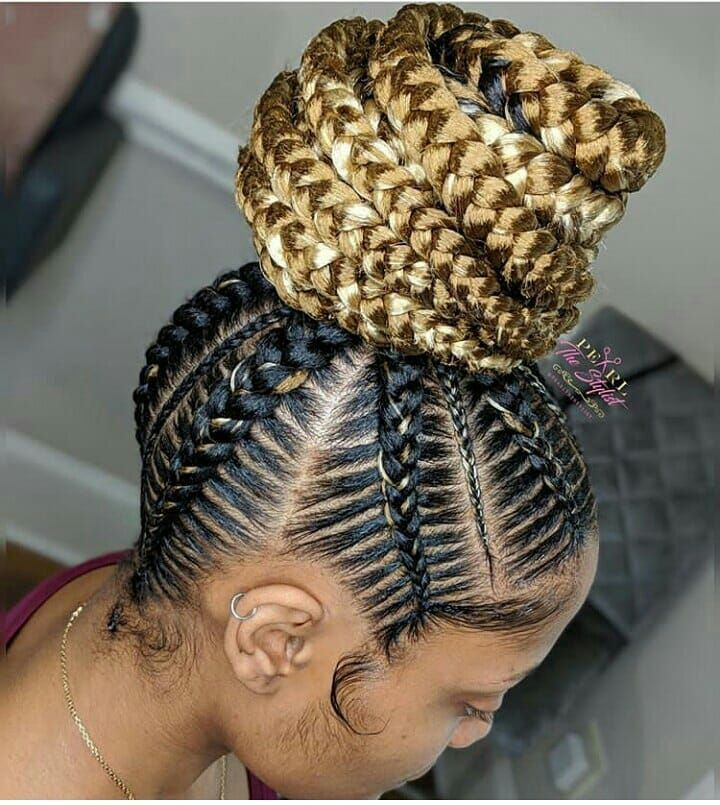 "Ghanaian hairstyles on Instagram: ""Small stitch ponytail waist length (in a bun) . Hairstylist ..."