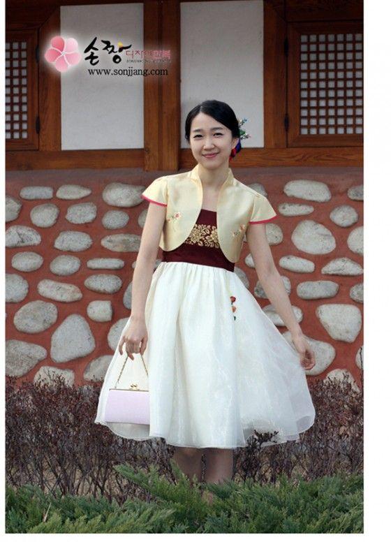 Short modern hanbok dress my style pinterest