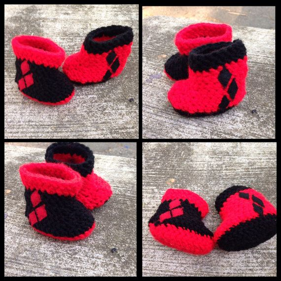 Lil Harley Quinn  by HooksAndCharms on Etsy