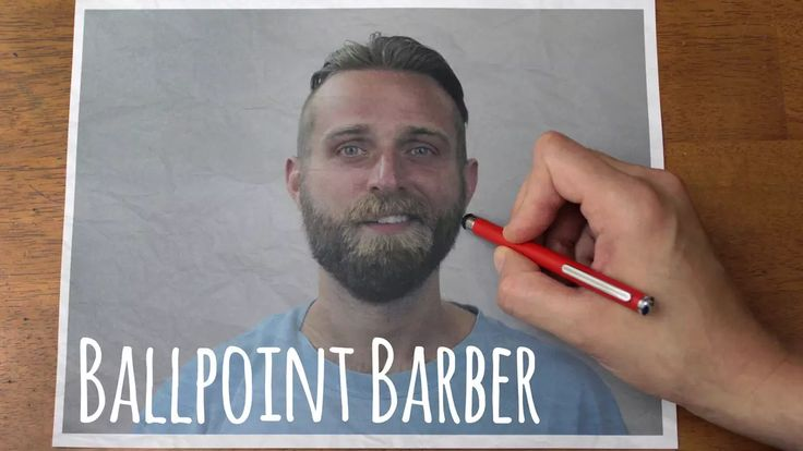 Ballpoint Barber // Stop-motion Reverse Haircut and Beard-cut // Trim 2 on Vimeo