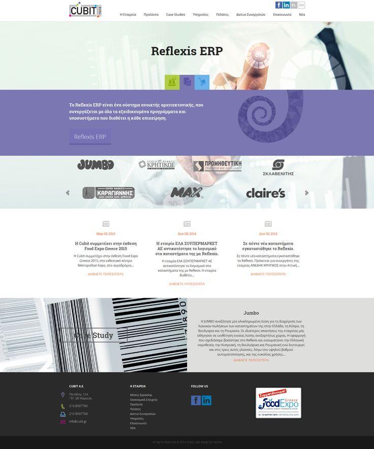 Δημιουργήσαμε την ιστοσελίδα της Cubit Tech και χρησιμοποιήσαμε ζωντανά χρώματα και εικόνες, που σε συνδυασμό με τα κείμενα προσφέρουν ένα πλήρες προφίλ της εταιρίας. O σχεδιασμός και η κατασκευή της ιστοσελίδας της Cubit έγινε με οδηγό ένα από τα βασικά χαρακτηριστικά της εταιρίας, που είναι η αγάπη της στη λεπτομέρεια. www.cubit.gr