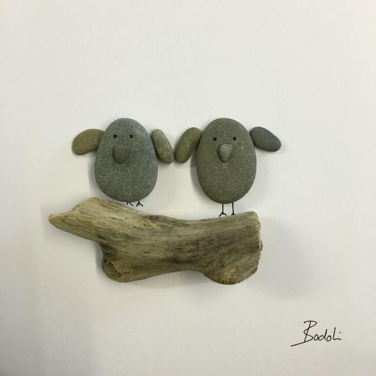 Pebbleart birds