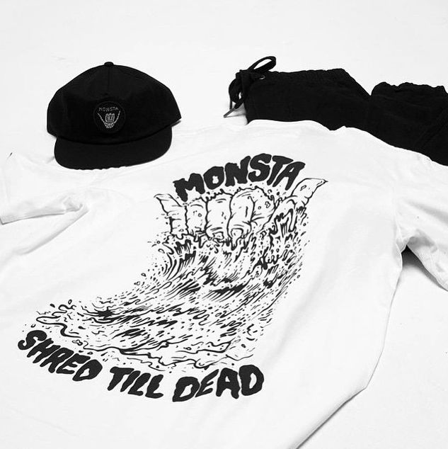 "Monsta Surf ""Shred Till Dead"" on Behance"