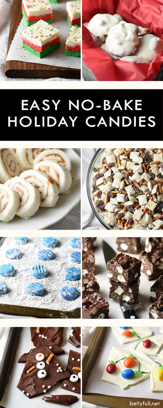 No-Bake Holiday Candies | Holiday candy, Main meals and Super easy
