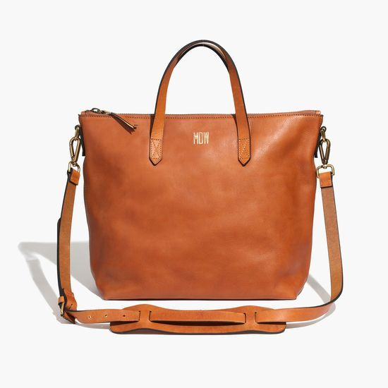 The Madewell Leather Zip Transport Tote #giftwell