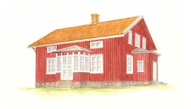 Helgeröd, dubbelhus 1900 - Exteriör - Västarvet