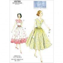Misses Petite Dress and Cummerbund Vogue Pattern 8789.