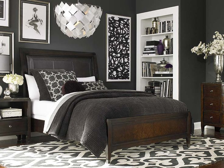 Great Cosmopolitan Leather Upholstered Sleigh Bed By Bassett Furniture. Clean  Sophisticated Lines With A Modern Flair