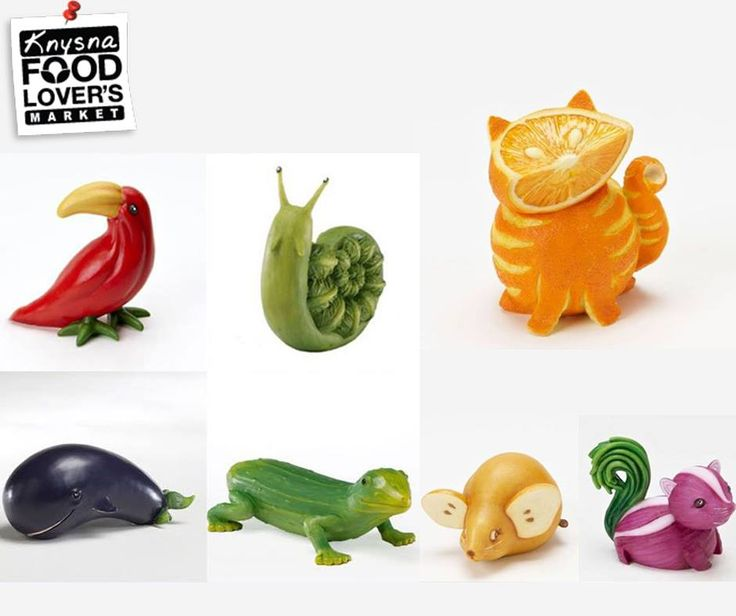 Even #fruits and #vegetables can be art. These adorable animal, fruit and veggie #artworks are a fun way to make sure your kids get all the vitamins and nutrients they need to grow. #FLM #Knysna