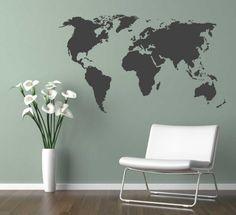 3d wereldkaart schilderij - Google zoeken