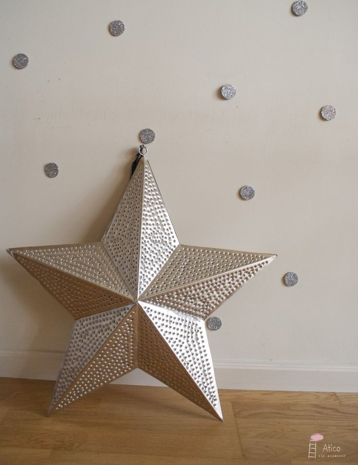 Estrella de Navidad plateada