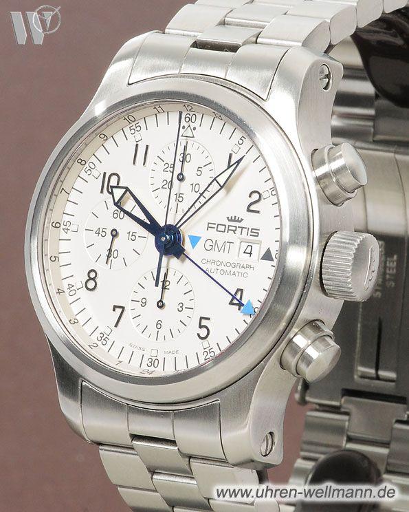 Fortis B 42 GMT, Herrenuhr, Chronograph, Gehäusematerial: Stahl (3449) -- www.uhren-wellmann.de --