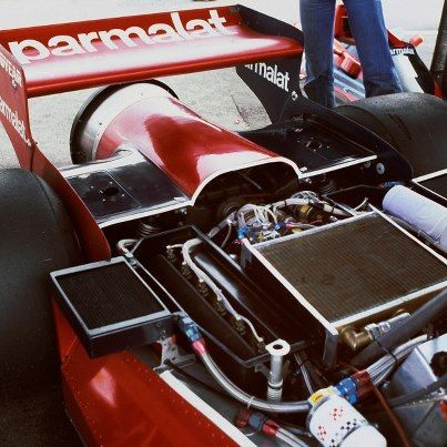 The Brabham BT46b fan car. Gordon Murray brilliance which was banned after one race.