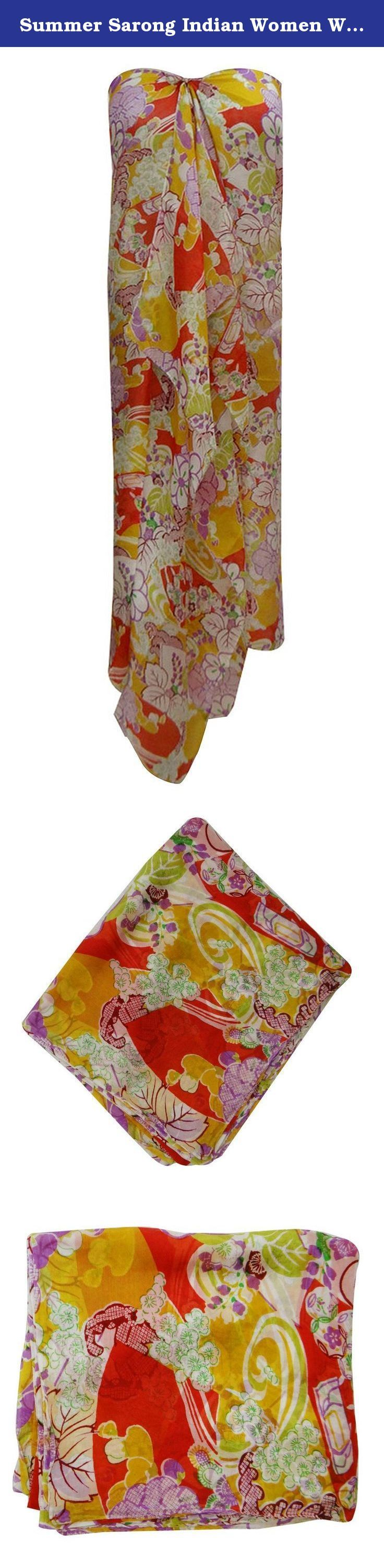 """Summer Sarong Indian Women Wear Stole Pure Silk Beach Cover-Up Scarves 70"""" X 40"""". * Pure silk fabric rectangular summer wear sarong scarf / sarong. * SHAPE: Rectangle. * Suitable for all age group of women and teenagers. * Perfect for any formal or informal occasion. * This scarf can be worn as sarong, wrap and swimwear. Size: 70"""" X 40"""" Inches (approx) ."""