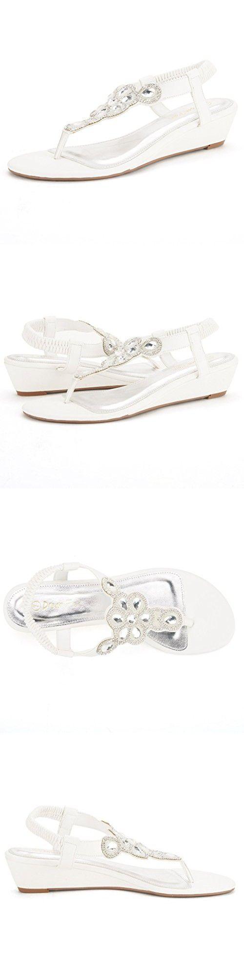 Black sandals size 11 - Dream Pairs Pershian Women S Summer Low Heel Casual Fashion Design Elastic Back Rhinestone T Flat