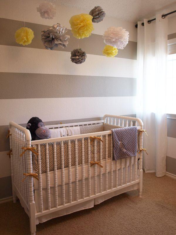 grey + yellow nursery
