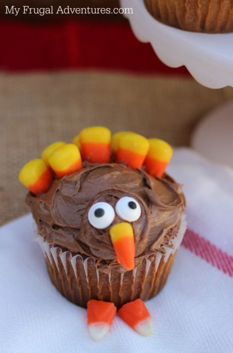 Turkey Cupcakes- so fun for Thanksgiving!