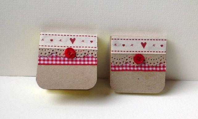 Mini Notebooks Set of Two, Handmade Notebooks £2.80