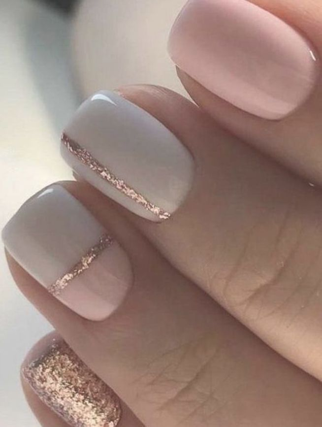 Nails Natural Nails Solid Color Nails Acrylic Nails Cute Nails Wedding Nails Sparkling Glitter Bridal Nai In 2020 Gold Nail Art Gold Nails Pink Nail Art Designs