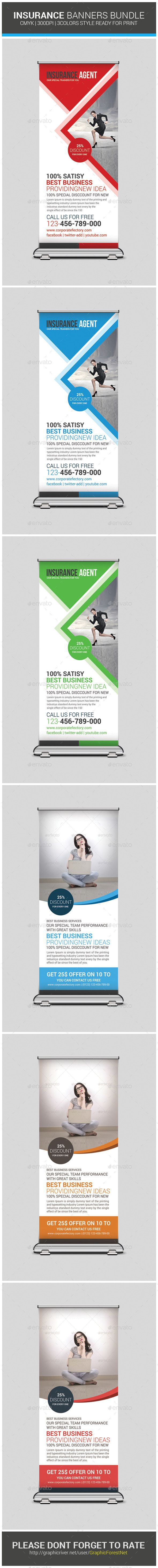 Insurance Business Banners Bundle Template #design Download: http://graphicriver.net/item/insurance-business-banners-bundle-template/9319452?ref=ksioks