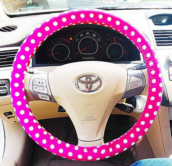 Hot Pink Polka Dot Steering Wheel Cover By RagsandRibbons On Etsy 1500