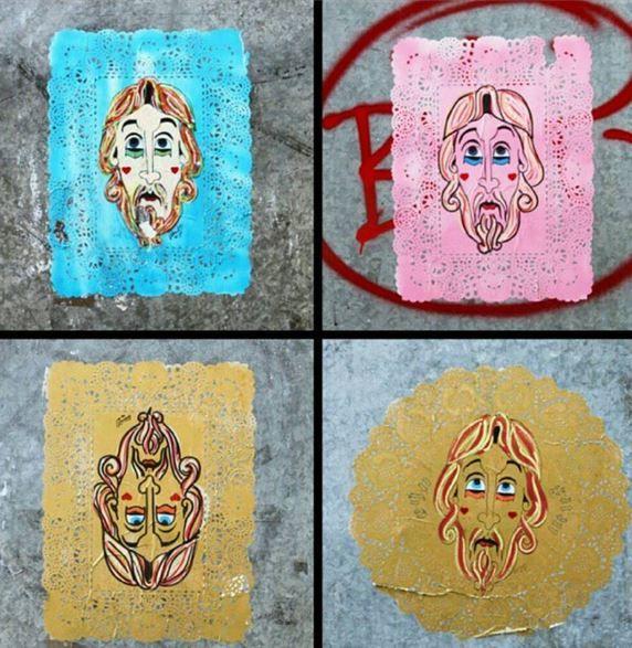 Omino 71 - Italian Street Artist - Barcelona (E) - 11/2014 - |\*/| #omino71 #streetart