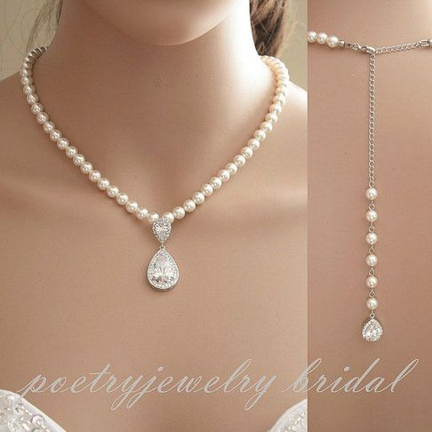 Leela Pearl Back Necklace