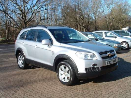Used 2008 (57 reg) Poly Silver Chevrolet Captiva 2.0 VCDi LT 5dr Auto [7 Seats] [2010.5] for sale on RAC Cars