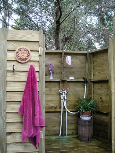 Cant compare to our outdoor shower..... but the future has endless possibilities!!!