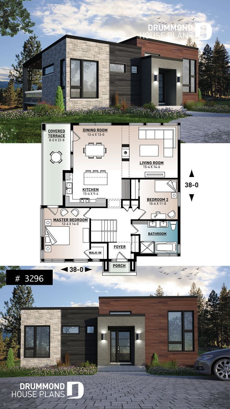 Plan 21212dr Economical Three Bedroom House Plan Three Bedroom House Plan Bedroom House Plans Brick House Plans