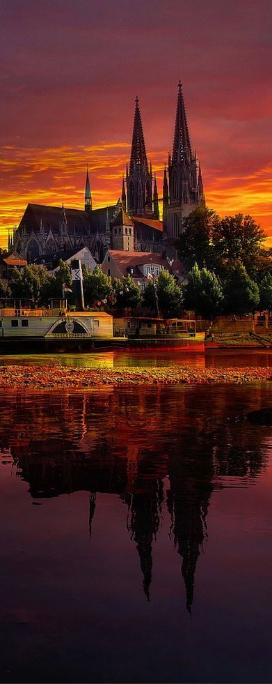 Sunset in Regensburg, Germany ◉ re-pinned by http://www.waterfront-properties.com/pbgoldmarshclub.php