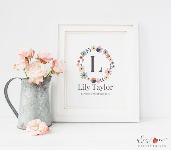 160 best baptism printables images on pinterest baby boy personalized baby girl gift nursery printables baptism gift baptism printable baptismgifts negle Images