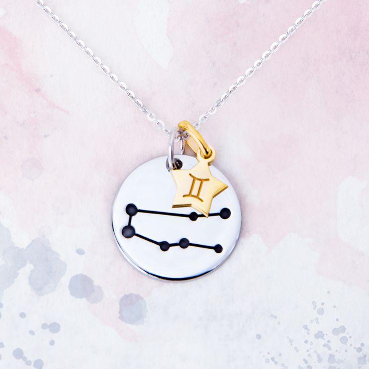 Géminis es un signo de aire que simboliza la amabilidad, el aprendizaje y la curiosidad. Está ligado a las personas nacidas entre 21 de mayo y 20 de junio. Descubre más constelaciones en la colección de Argyor.