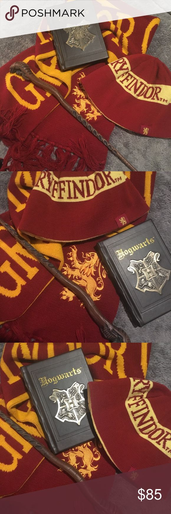 Harry Potter Scarf, hat, wand and notebook. Sale! 💥 Harry Potter Wand, Scarf, Hat and Notebook. All bought in Universal studio's Orlando. harry potter Accessories