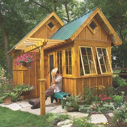 10 x 16 sheds connected to create tiny house yahoo for Backyard cottage designs