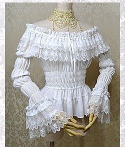 Millefleurs Georgette and Lace Blouse