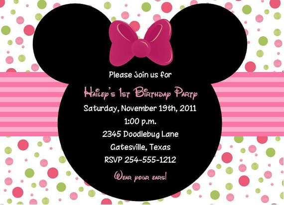 Perfect Minnie Mouse Baby Shower/Birthday Invitations By BugaboosDesigns2, $12.79