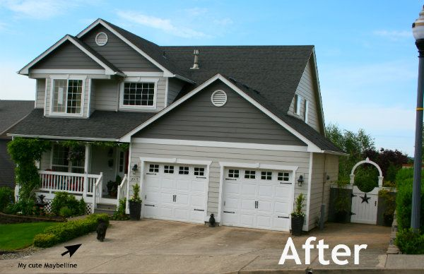 62 best images about home exterior before after on for Home hardware garages