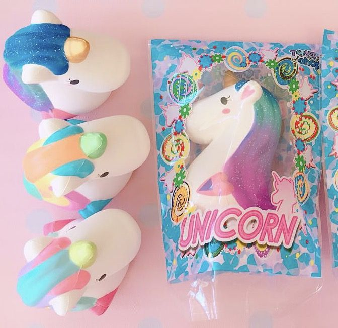 Jumbo unicorn head squishy ~ licensed