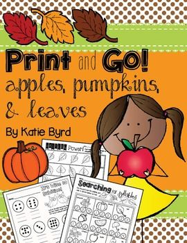 Looking for some great printables to make fall in Kindergarten a little easier?…