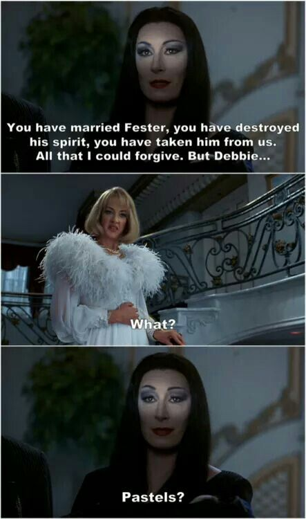 Everything but that #Adams family # Morticia #Debbie  #pastels