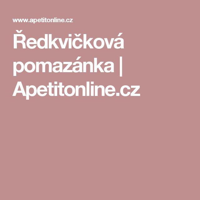 Ředkvičková pomazánka   Apetitonline.cz