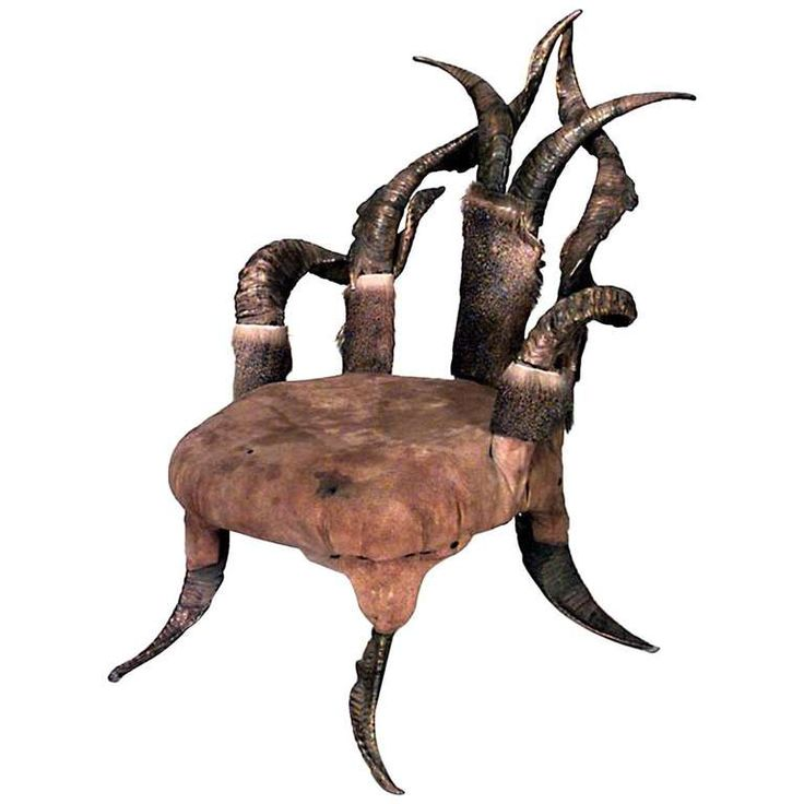 19th c. Continental Horn and Antler Children's Armchair