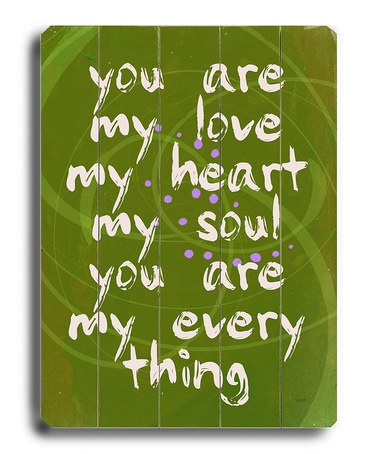 Take a look at this 'You Are My Love' Wall Art by Lisa Weedn on #zulily today!