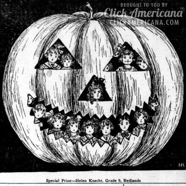 Halloween scenes from 1910