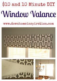Because this post has become so popular, I've since updated it by showing how to hang the valance with no damage, and no holes to be renter friendly.  Check it out here.  I've also added