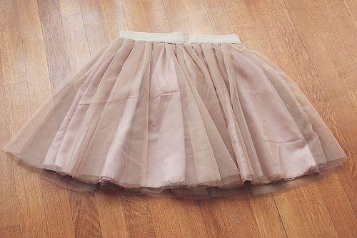[DIY] Comment faire une jupe en tulle / jupe tutu