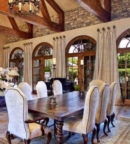 Gorgeous dining room area