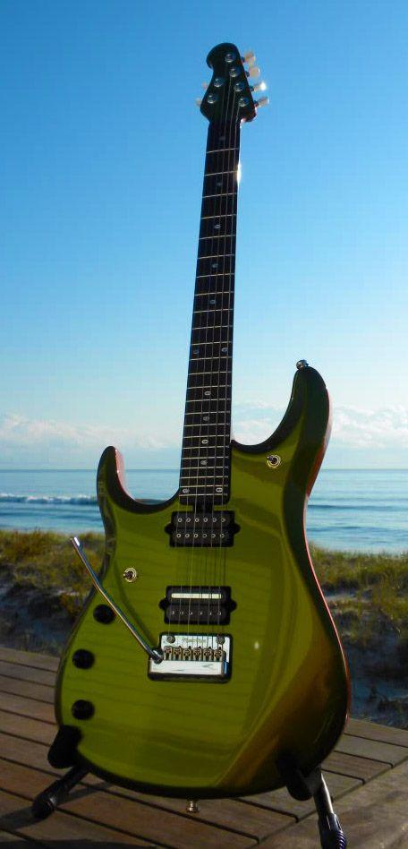 MusicMan John Petrucci BFR Dargie Delight 2 left-handed guitar - yum!