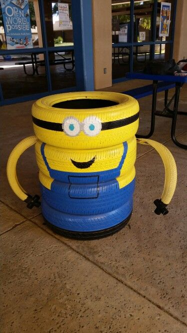 Minion Made From Old Tires Old Tires New Uses Old